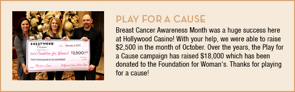 Play for a Cause Donations